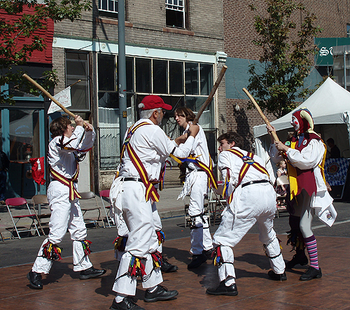 The Maroon Bells Morris Dancers - Performing the Fieldtown morris dance 'Curly Headed Ploughboy'