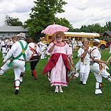 Pictures of the Maroon Bells Morris Dancers at the 2004 Midwest Morris Ale
